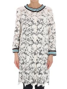 Ermanno Scervino - White lace overcoat with black embroidery