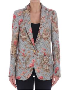 Shirtaporter - Light-blue Zen Garden tweed jacket