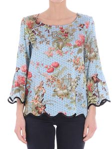 Shirtaporter - Light-blue Zen Garden Blouse