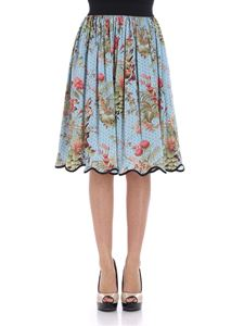 Shirtaporter - Light-blue Zen Garden skirt