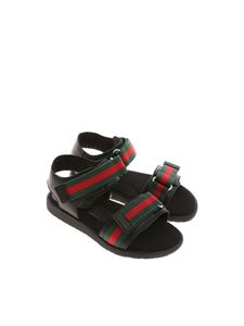 Gucci - Black sandals with logo
