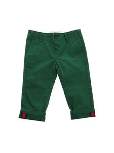 Gucci - Green cotton trousers