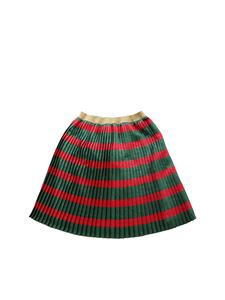 Gucci - Red and green pleated skirt