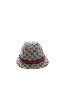 Gucci - Beige and blue monogram hat
