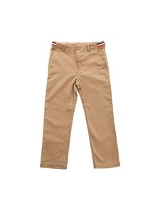 Moncler Jr - Brown cotton trousers