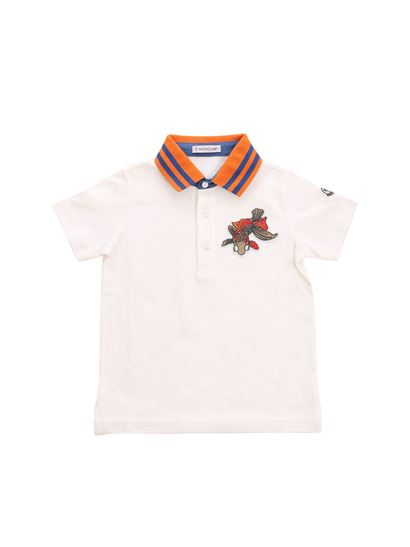 82f003b8bb5e Moncler Jr Spring Summer 2018 white polo with fish - 8309205 84509 034