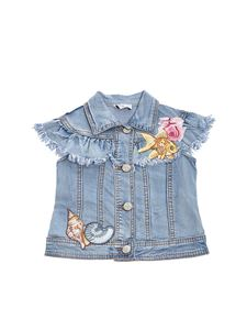 Monnalisa - Denim jacket with embroideries