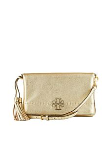 Tory Burch - Golden leather clutch bag