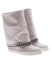 Casadei - White Renna boots with chain