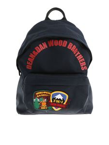 Dsquared2 - Blue backpack with patches