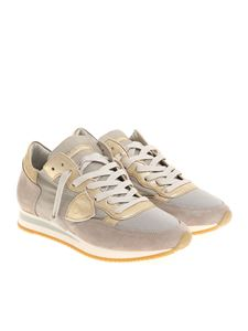 Philippe Model - Taupe and golden Tropez L sneakers