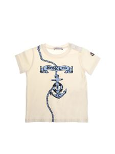 Moncler Jr - White t-shirt with anchor print