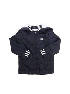 Armani Jr - Blue hooded jacket