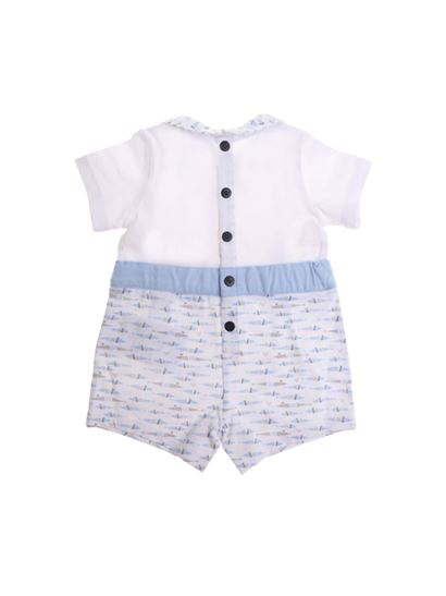Armani Jr - White romper with fishes print