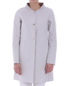 Herno - Ice-colored reversible overcoat