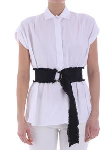 Barba - White blouse with black belt