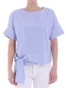Barba - Light blue and white striped top
