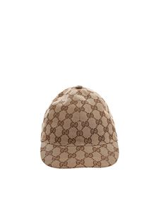 Gucci - Beige GG diamonds cap