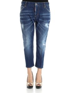 Dsquared2 - Blue Cropped Slouch Jeans