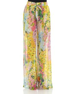Moschino Boutique - Multicolor floral patterned trousers