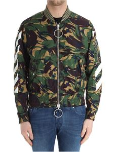 Off-White - Temperature camouflage bomber jacket