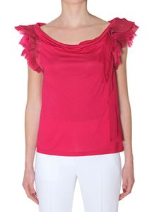 Givenchy - Fuchsia silk blend top