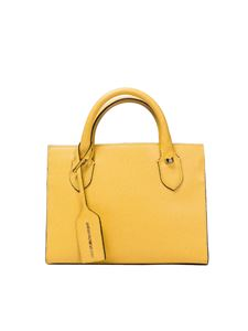 Borbonese - Yellow leather handbag