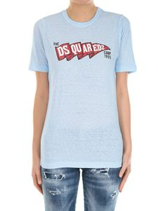 Dsquared2 - Light-blue t-shirt with logo