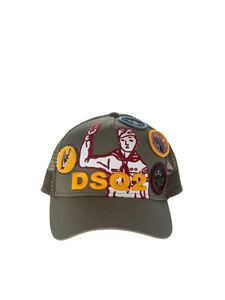 Dsquared2 - Green cap with multicolor inserts