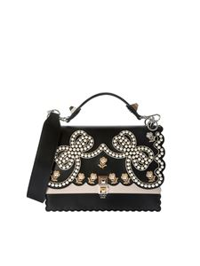Fendi - Black Kan I bag with pearls and embroidery