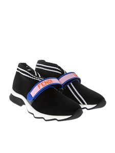 Fendi - Stretch sneakers with multicolor logo