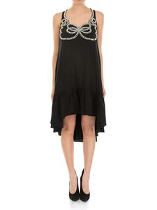 Fendi - Crepe de chine dress with pearly inserts