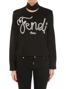 Fendi - Black Bows and Pearls top