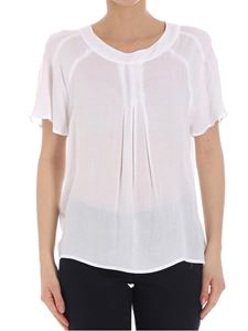 Trussardi Jeans - White top with front pleats