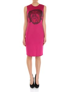 Givenchy - Fuchsia dress with dog print