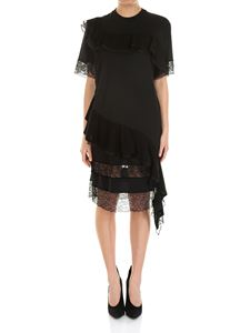 Givenchy - Black asymmetrical dress with ruffles