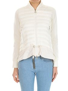 Moncler - Cream colored padded cardigan