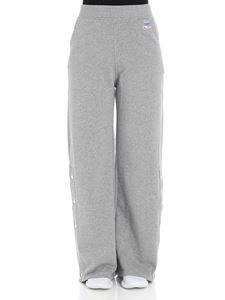 Courrèges - Gray sweatshirt trousers with logo