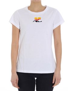 Courrèges - White t-shirt with logo