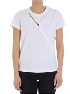 Courrèges - White t-shirt with cut-out
