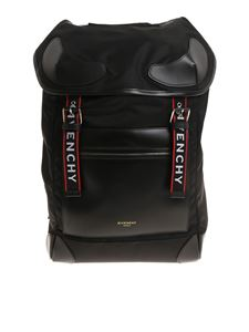 Givenchy - Black backpack with logo stripes