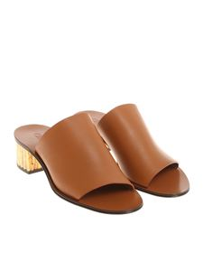 Chloé - Brown leather mules