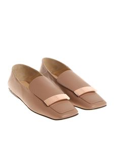 Sergio Rossi - Nude leather SR1 slippers