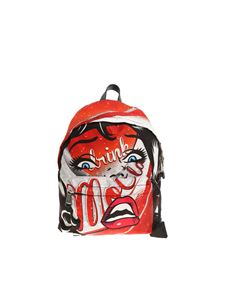 Moschino - Red printed backpack