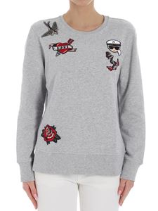 Karl Lagerfeld - Gray Karl sweatshirt with patches