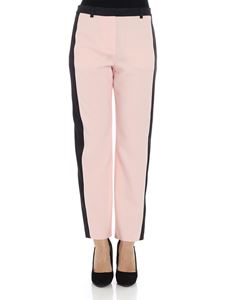 Karl Lagerfeld - Pink and black tuxedo trousers