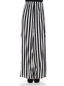 Federica Tosi - Black and white striped palazzo trousers