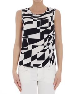 Federica Tosi - Black and white geometric patterned top