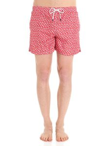 FEDELI Swim&Wear - Red swimsuit with stars and fish