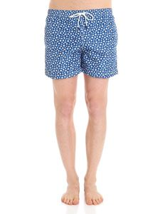 FEDELI Swim&Wear - Blue swimsuit with stars and fish